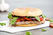 Rib-eye steak burger